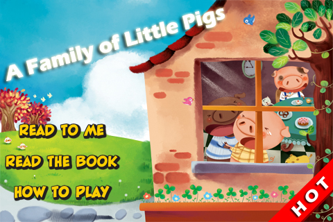 Screenshot A Family of Little Pigs : Kids Reading I